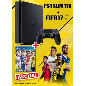 Konzola Playstation 4 1TB Slim + FIFA 17