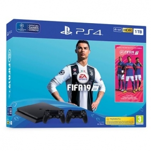 Konzola Playstation 4 1TB Black Slim + FIFA 19 + Gamepad Playstation 4