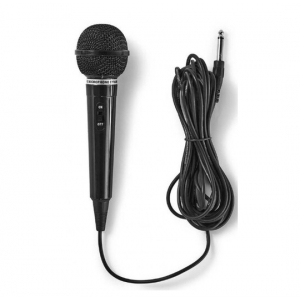Nedis MPWD01BK karaoke mikrofon, 6.35mm -75dB sensitivity, 80Hz-12kHz +/-3dB, 5.0m