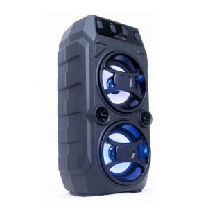 Gembird SPK-BT-13 portable bluetooth karaoke speaker 2x5W, FM, USB, SD, 3,5mm, MIC 6,35mm, LED, black