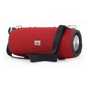 Gembird SPK-BT-06-R portable bluetooth speaker 2x5W USB, SD with powerbank function, red FO