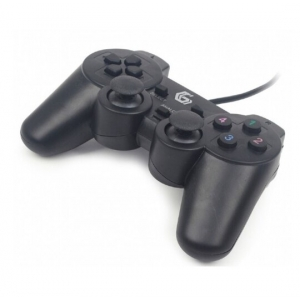 Gembird JPD-UDV-01 USB 2.0 analog vibration gamepad black (349)