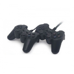 Gembird JPD-UDV2-11 USB 2.0 double analog vibration gamepad black (559)