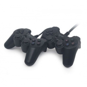 Gembird JPD-UDV2-01 USB 2.0 double analog vibration gamepad black (632)