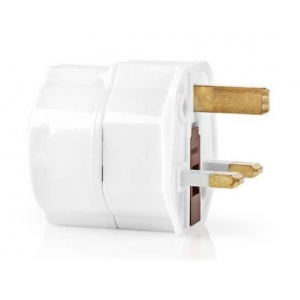 Nedis TRAV01 travel adapter, EU to UK, White